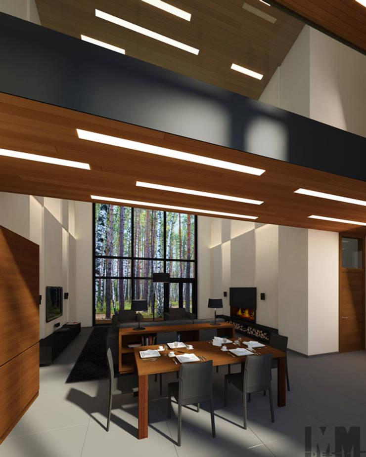 Коттедж в пос. Никольские озера: Столовые комнаты в . Автор – ММ-design