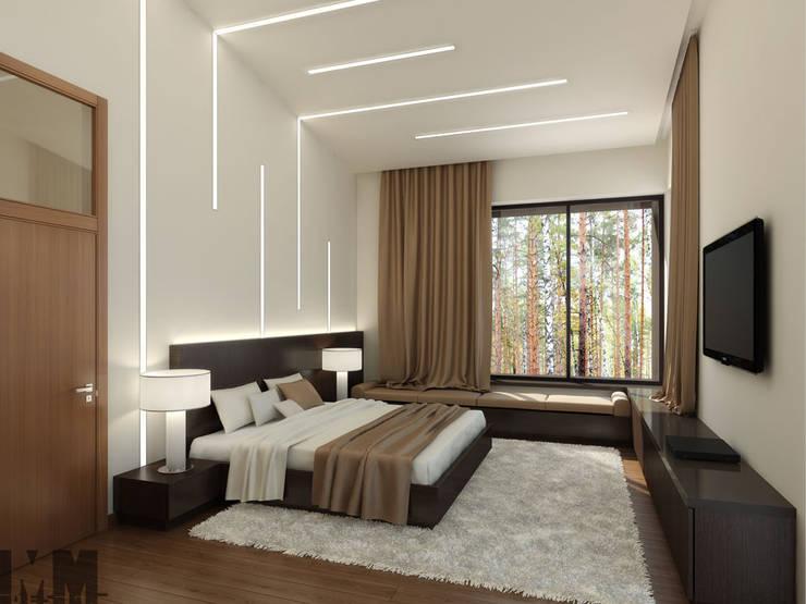 Коттедж в пос. Никольские озера: Спальни в . Автор – ММ-design
