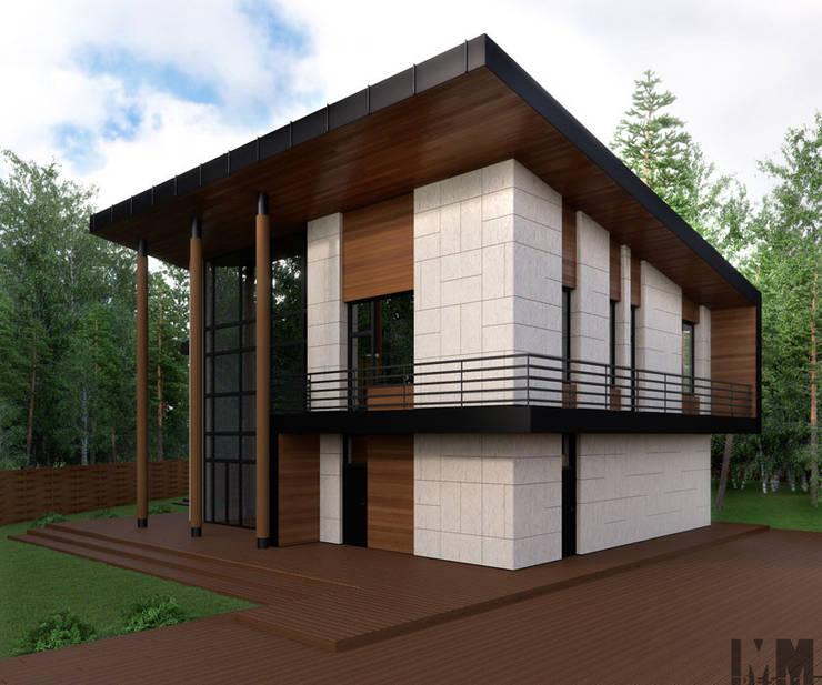 Коттедж в пос. Никольские озера: Дома в . Автор – ММ-design