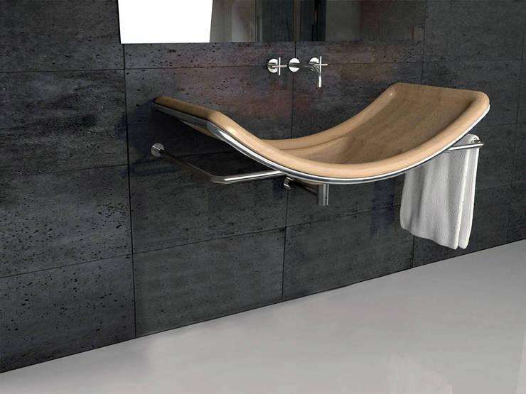 Lavabo S:  in stile  di DiciannoveDieciDesign, Moderno Legno Effetto legno
