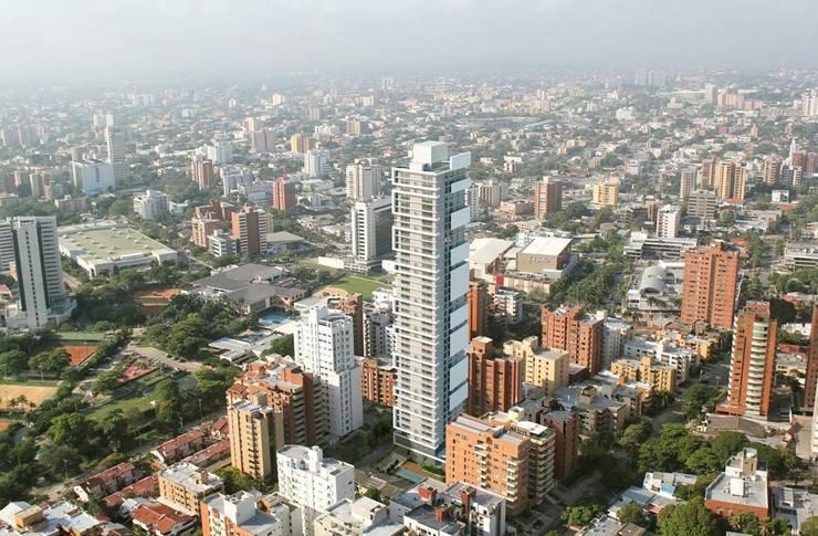 Render torre residencial Barranquilla: Casas de estilo  de Berga&Gonzalez - arquitectura y render