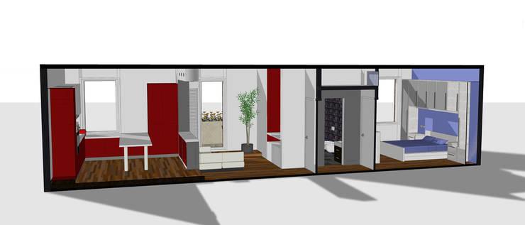 Sezione progettuale 3D: Case in stile  di BRENSO Architecture & Design