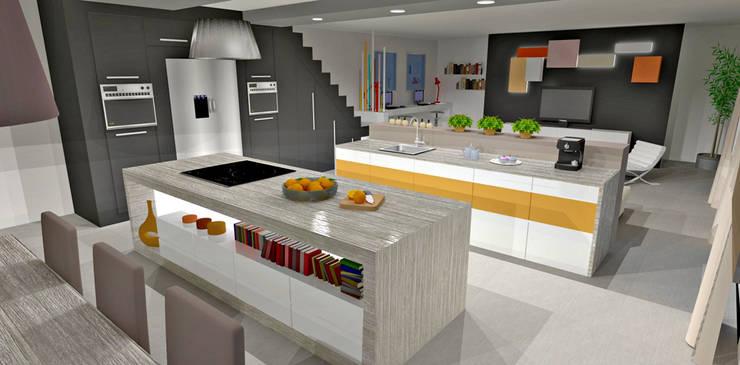 Cuisine à double ilot: Cuisine de style de style Moderne par HanaK Décoration