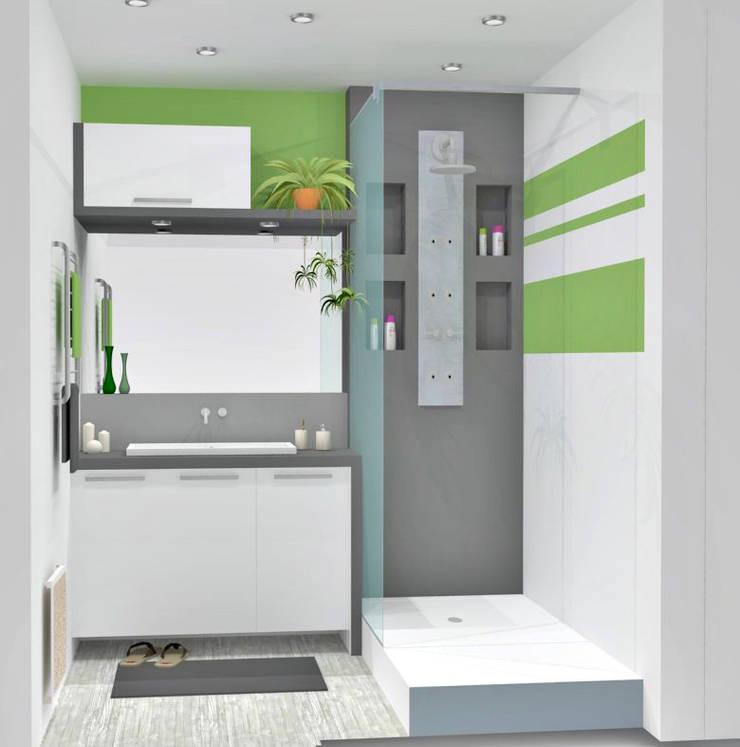 Salle de bain : Salle de bains de style  par HanaK Décoration