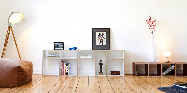 Klassisch aufgeräumtes Wohnzimmer: moderne Wohnzimmer von bSquary Designs