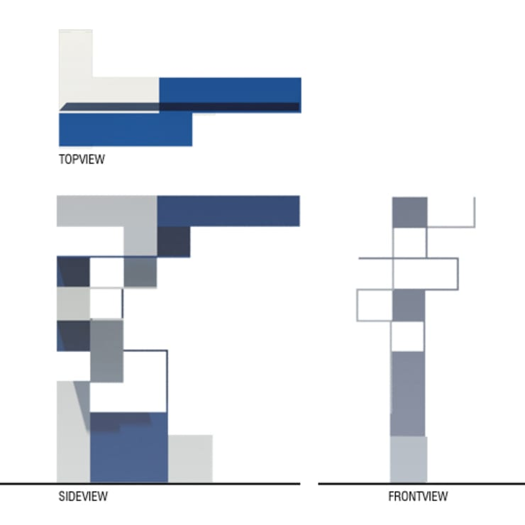 Pianta e prospetti: Ingresso, Corridoio & Scale in stile  di BRENSO Architecture & Design