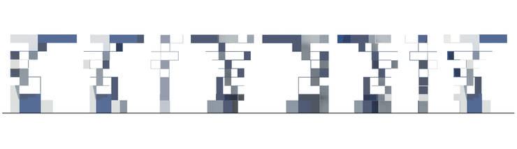 Prospetti: Ingresso, Corridoio & Scale in stile  di BRENSO Architecture & Design
