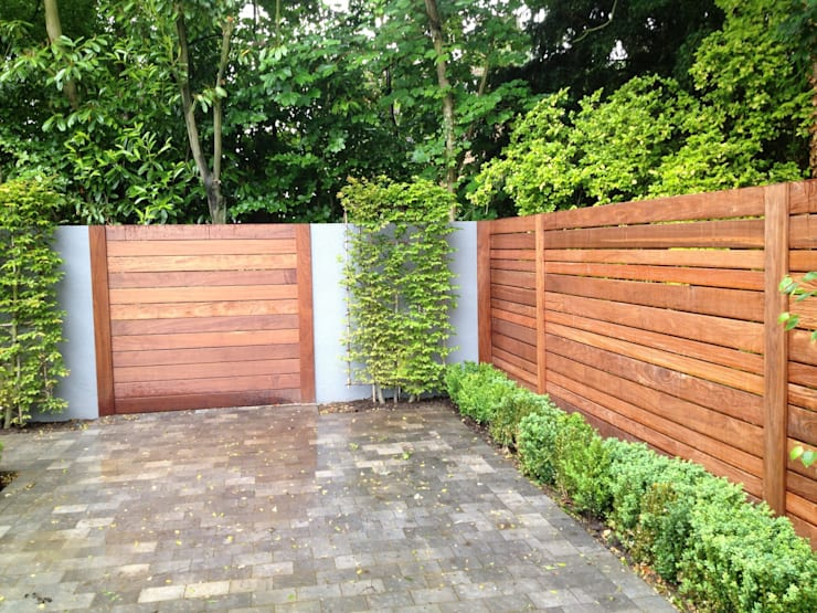 Contemporary screening , fencing & wall panels Jardin moderne par Paul Newman Landscapes Moderne