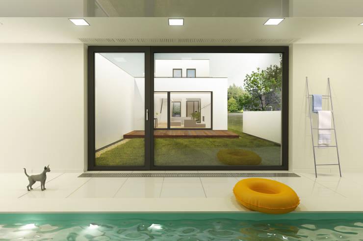 dom 10m: styl , w kategorii Domy zaprojektowany przez Libido Architekci,