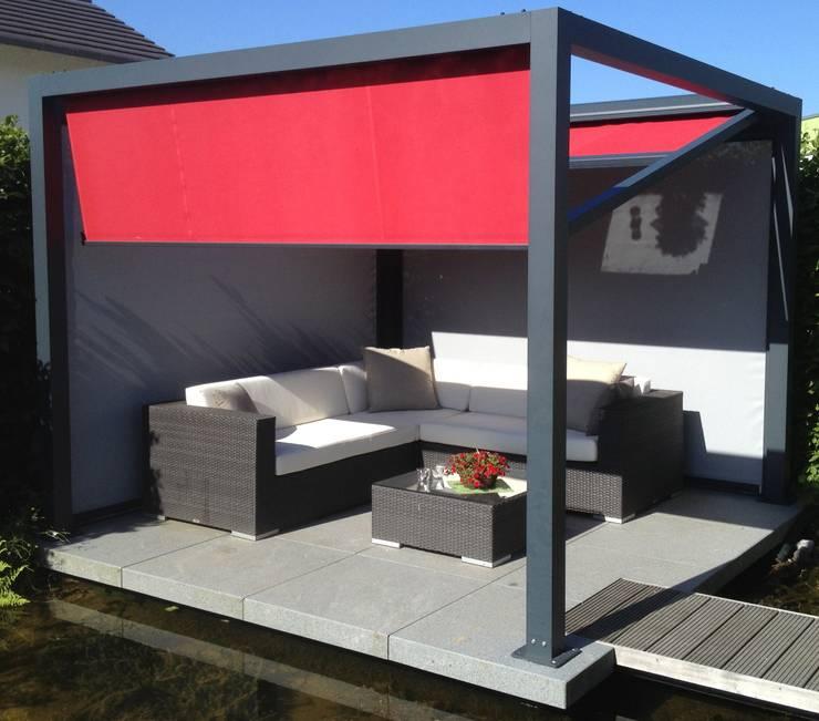 Balcones y terrazas de estilo  por Textile Sonnenschutz- Technik