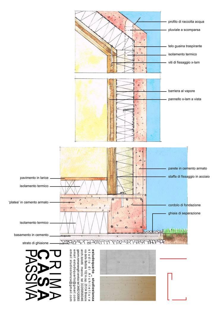 Prima Casa Passiva di estudoquarto: Case in stile  di estudoquarto s.r.l.