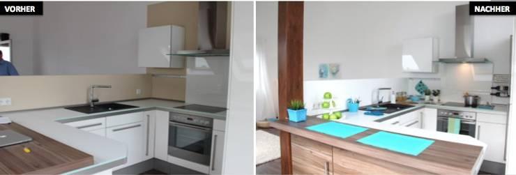 Küche Vergleich vorher/nachher:  Küche von raumwerte Home Staging,Modern