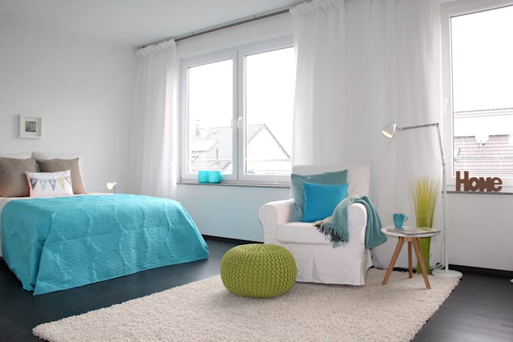 Спальни в . Автор – raumwerte Home Staging