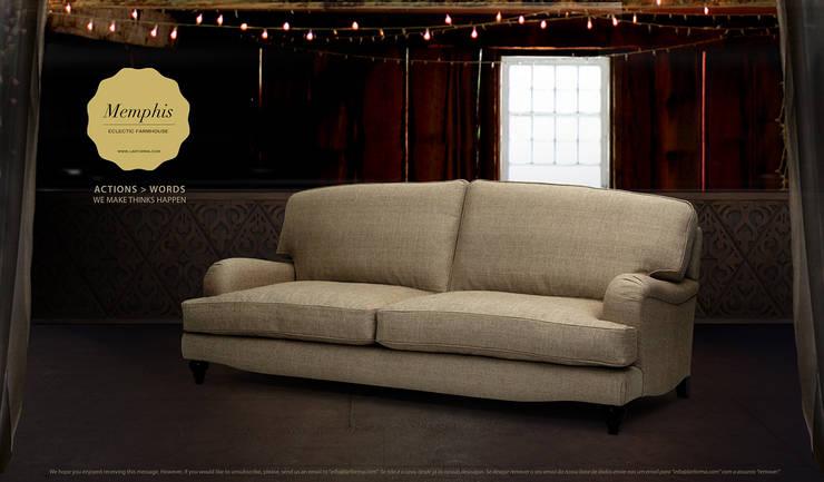 MEMPHIS: Sala de estar  por Larforma