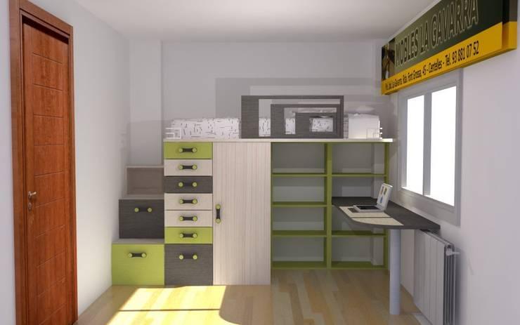 Nuria: Dormitorios infantiles de estilo  de Mobles la Gavarra