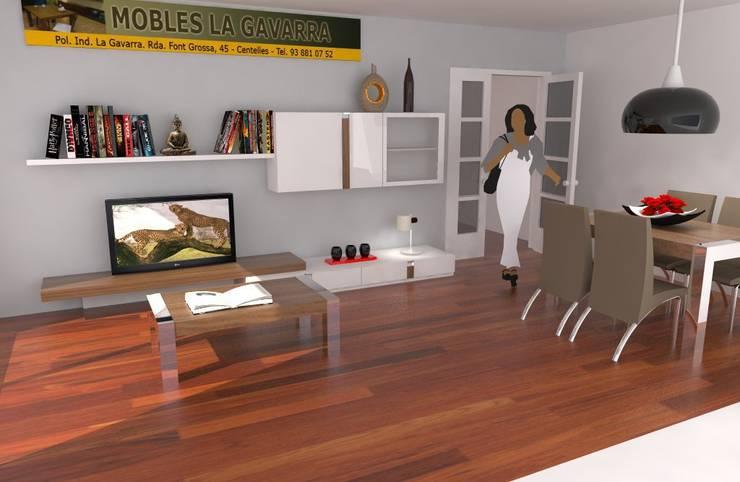 Laura: Comedores de estilo  de Mobles la Gavarra
