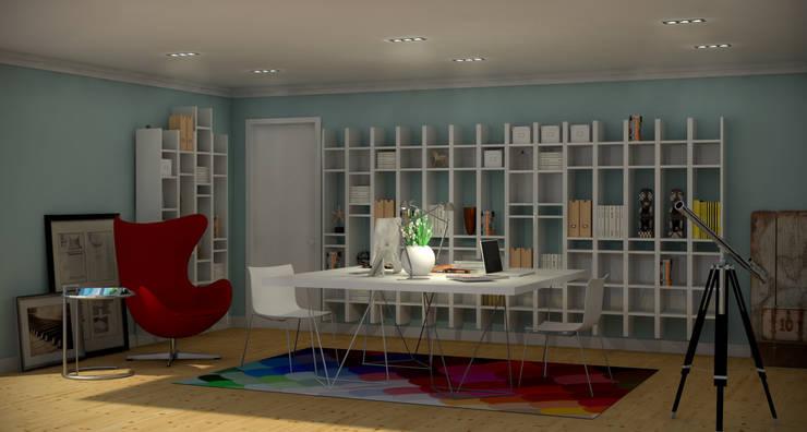 Portuguese House - Home Office: Casas  por Santiago | Interior Design Studio
