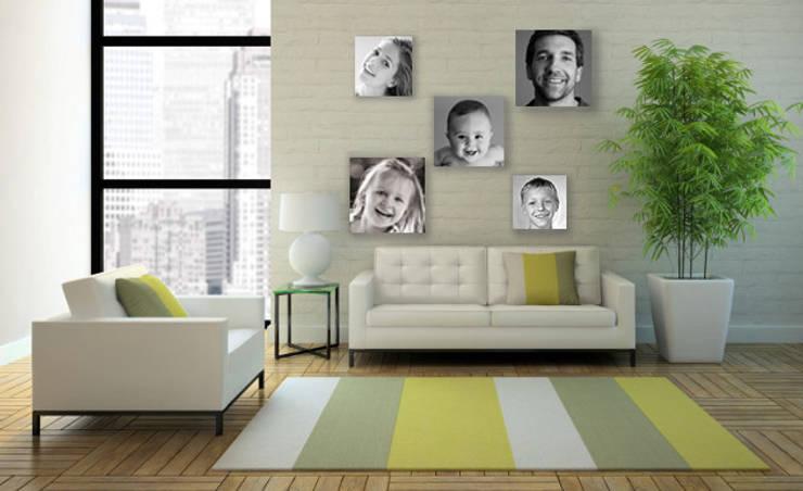 Para la sala: Hogar de estilo  por Arte&Fotos.mx