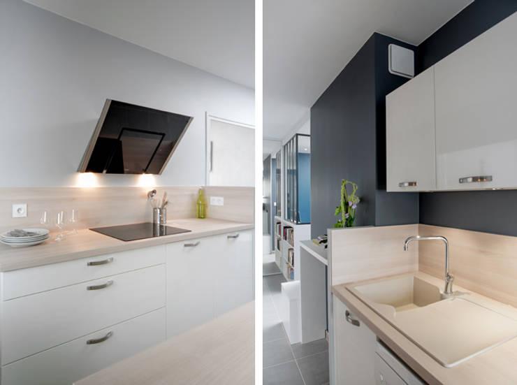 Appartement à Lyon 07: Cuisine de style  par Marion Lanoë Architecte d'Intérieur