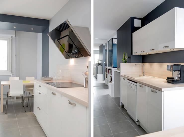 modern Kitchen by Marion Lanoë Architecte d'Intérieur