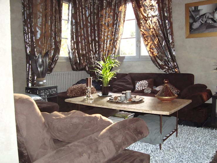 Rénovation complète, aménagement et décoration d'une maison à Giverny: Maisons de style  par Katia Rocchia Home Designer