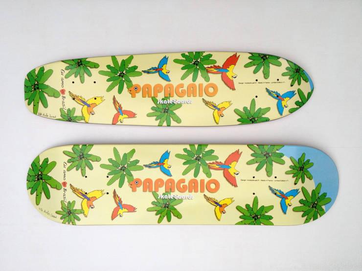 Papagaio skateboards limited edition n°1: Murs & Sols de style  par Nicolas Douard