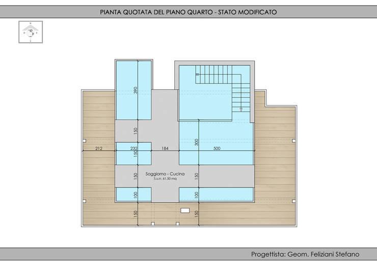 Sopraelevazione edificio residenziale:  in stile  di Geom. Stefano Feliziani