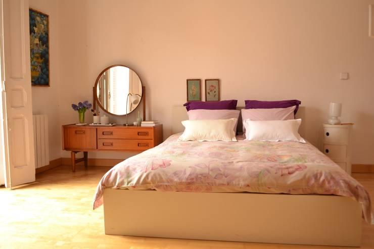 Piso en Atocha: Dormitorios de estilo  de Diseño Interior Bruto