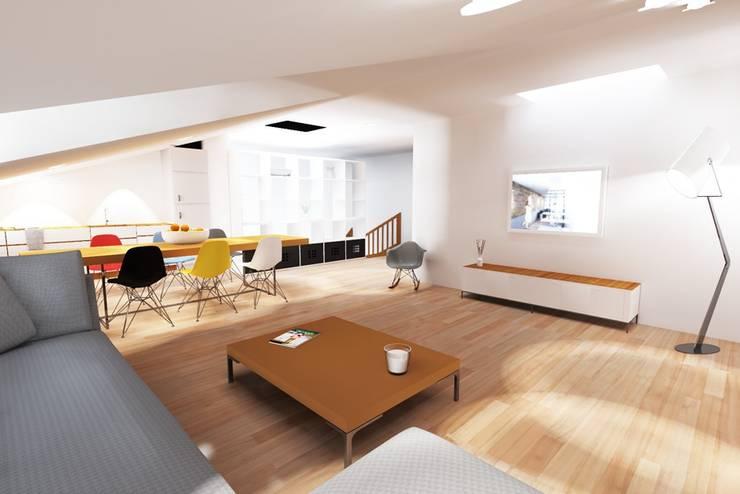 Un 3 Pièces Sous Les Toits: Maisons de style  par ab interior design