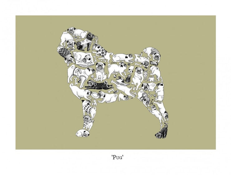 Louise Tate Pug Print:  Artwork by Anthea's Home Store