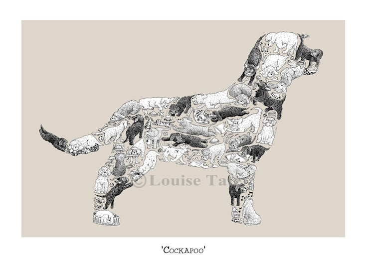Louise Tate Cockapoo Print:  Artwork by Anthea's Home Store