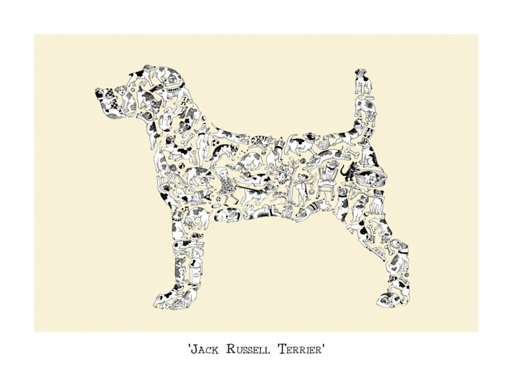 Louise Tate Jack Russell Terrier Print:  Artwork by Anthea's Home Store