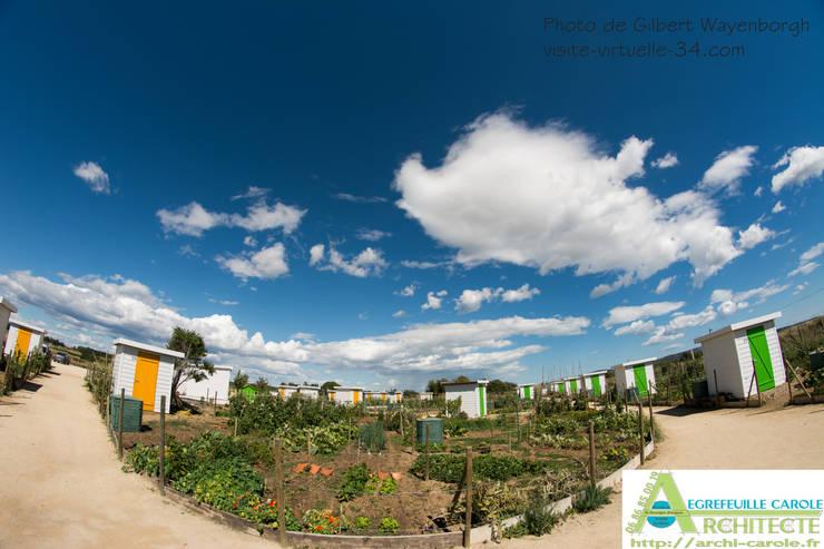 Les jardins familliaux de Pignan: Jardin de style  par Architecte Egrefeuille Carole