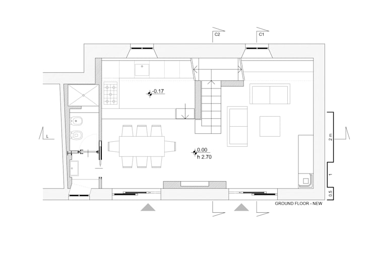 Nhà theo Cristina Meschi Architetto, Mộc mạc