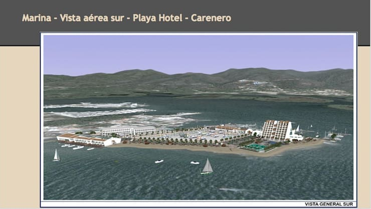 Vista aerea - Playa - Lanchas - Hotel: Yates y jets de estilo  de CADOT