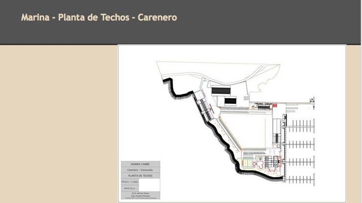 Planta de Techos: Yates y jets de estilo  de CADOT