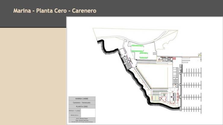 Planta Nivel Cero: Yates y jets de estilo  de CADOT
