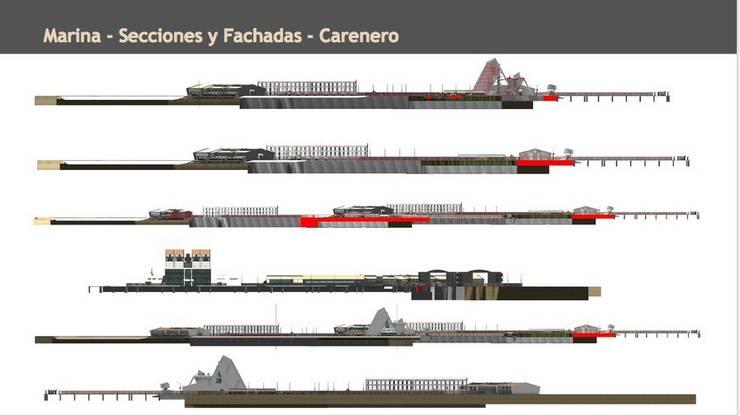 Secciones y Fachadas: Yates y jets de estilo  de CADOT