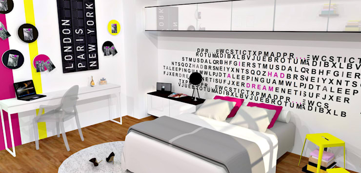 Projekty,  Sypialnia zaprojektowane przez HanaK Décoration