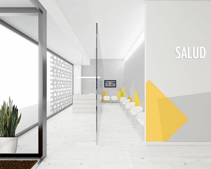 Croquis zona de recepción y espera: Clínicas de estilo  de interior03