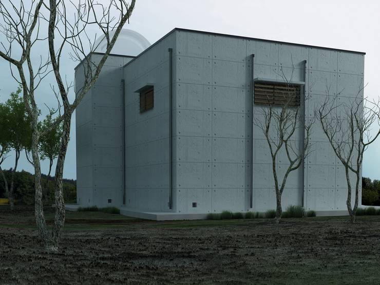 EDIFICIO PARA TELESCOPIO LASER:  de estilo  de Martín y Mazza Arquitectos