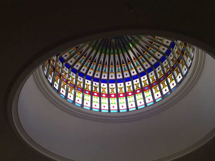 Stained Glass Domes:  Artwork by Glasstec
