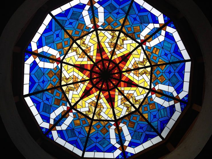 Stained glass Dome:  Artwork by Glasstec