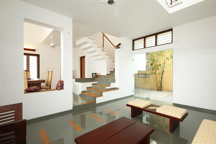 Residence for the Unknown Client:  Living room by LIJO.RENY.architects