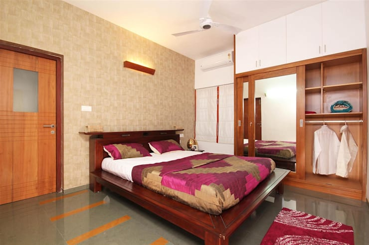 modern Bedroom by LIJO.RENY.architects