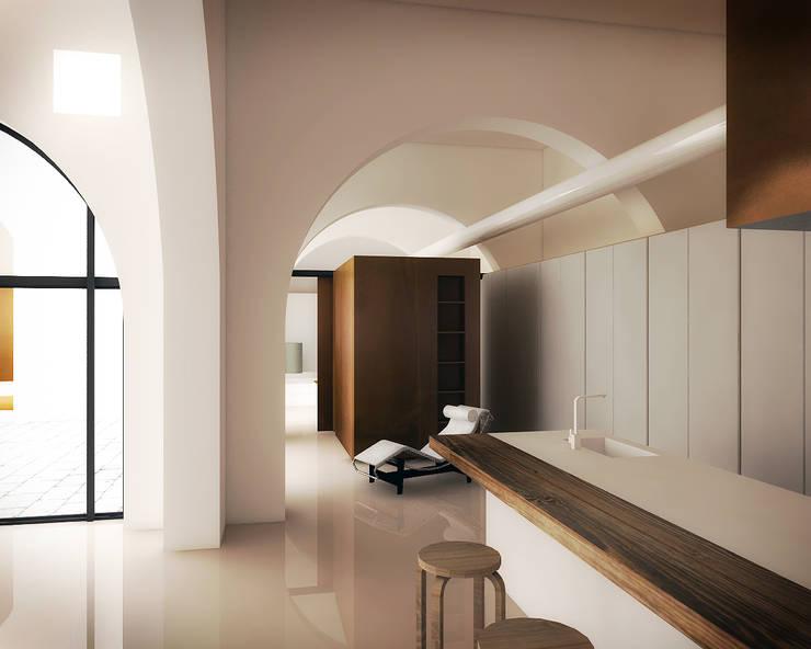 Casa&Putìa: Cucina in stile in stile Industriale di MM A   Massimiliano Masellis Architetti