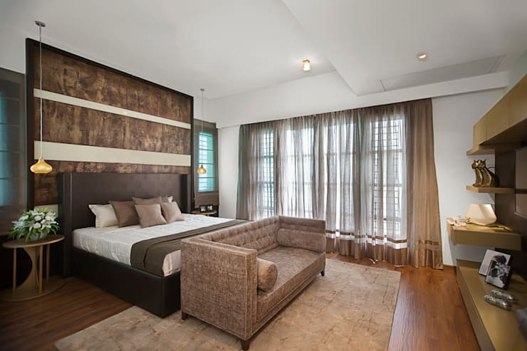 Prestige Silver Springs, Chennai:  Bedroom by Morph Design Company