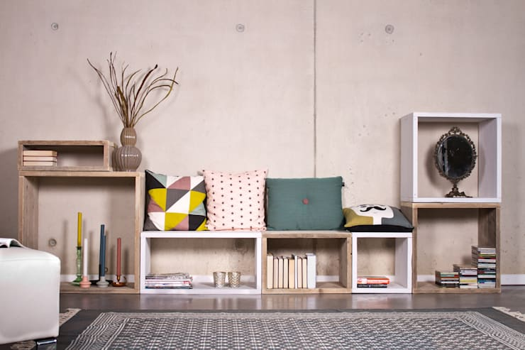 Livings de estilo  por PURE Wood Design
