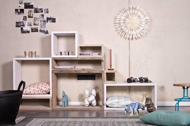 Salas/Recibidores de estilo escandinavo por PURE Wood Design