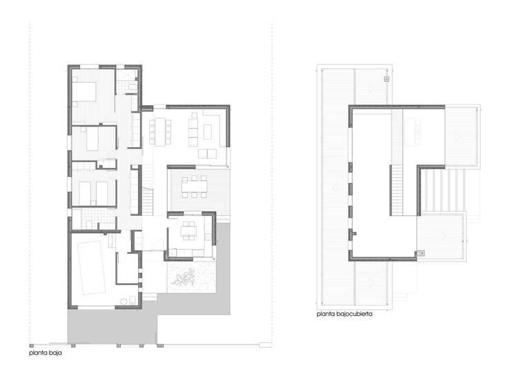 Vivienda unifamiliar aislada:  de estilo  de ADDEC arquitectos